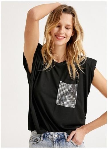 Koton Koton T-Shirt Siyah